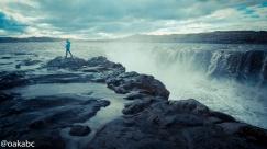 ถ้าเดินขึ้นมาตามลำน้ำ Dettifoss ก็จะเจอ น้ำตก Selfoss