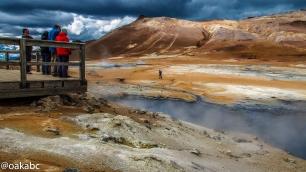 บ่อโคลนเดือน Hverir Namafjall ที่นี่กลิ่ยสุดยอดเหม็นกำมะถันมาก